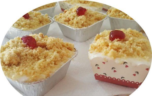 עוגות גבינה פירורים אישיות