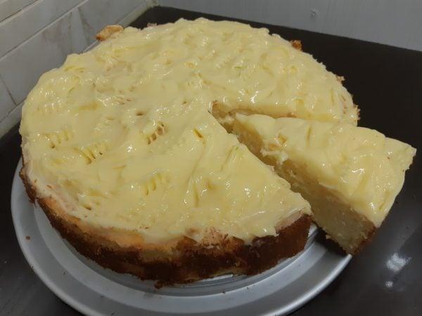 עוגת ריקוטה ולימון בחושה