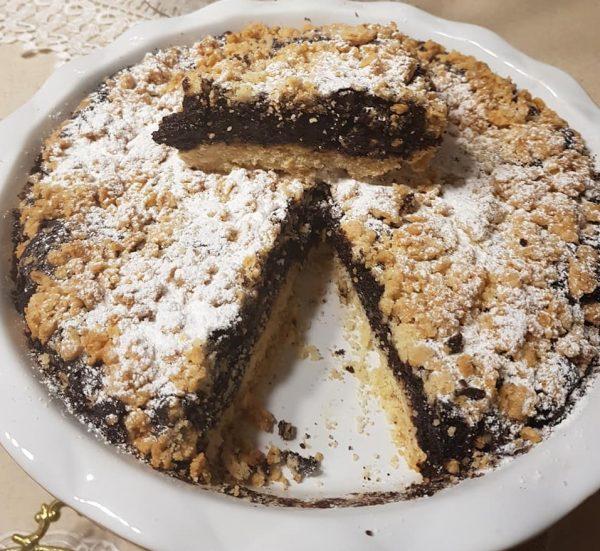 עוגת שוקולד גבינה פירורים ללא מיקסר