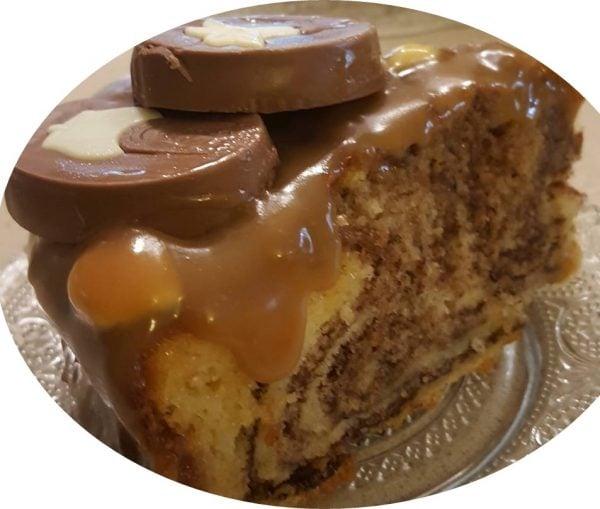עוגת גבינה שוקולד מריר , גנאש שוקולד לבן ולוטוס