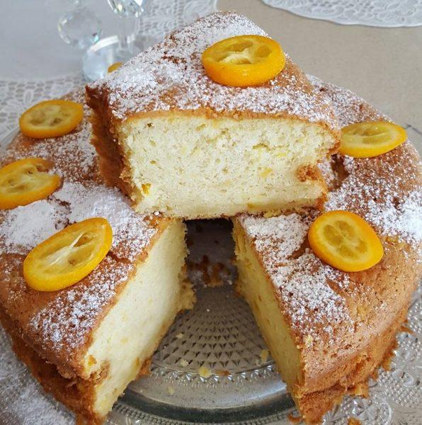 עוגת תפוזים אוורירית ורכה , קצת מזכירה במרקמה עוגת גבינה