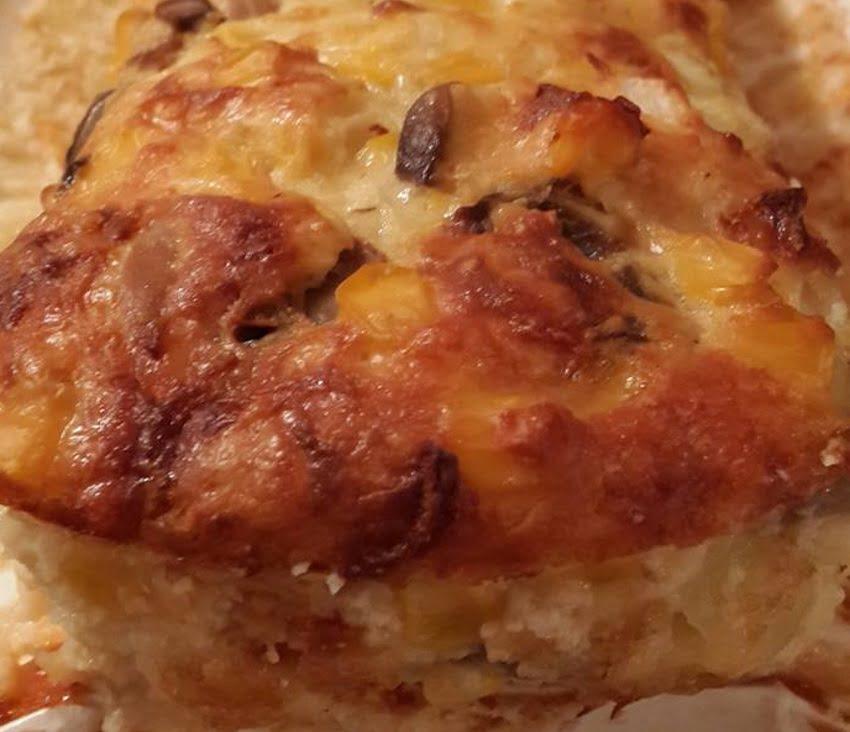 פשטידת גבינות, פטריות ותירס
