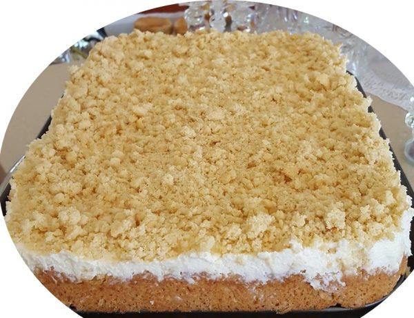 עוגת שמנת פירורים_מתכון של נורית יונה