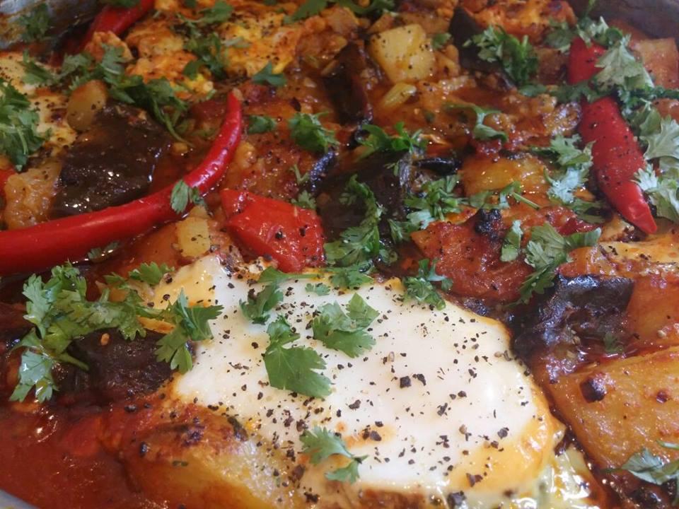 תבשיל תפוחי אדמה עם ביצים