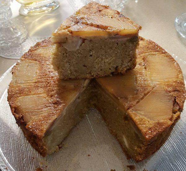 פסיפס עוגת ריקוטה פרסקה תפוחים וקינמון