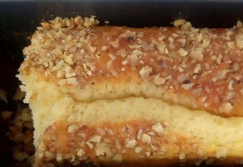עוגת תפוזים בציפוי אגוזים