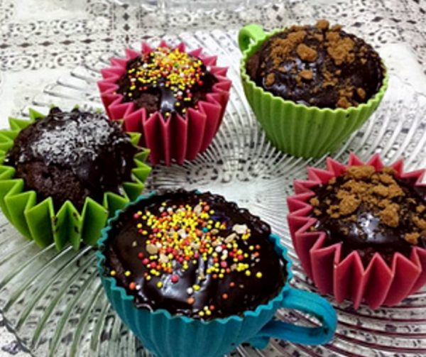 עוגת מאפינס שוקולית
