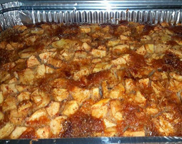 עוגת תפוחים בחושה 5 דק' הכנה