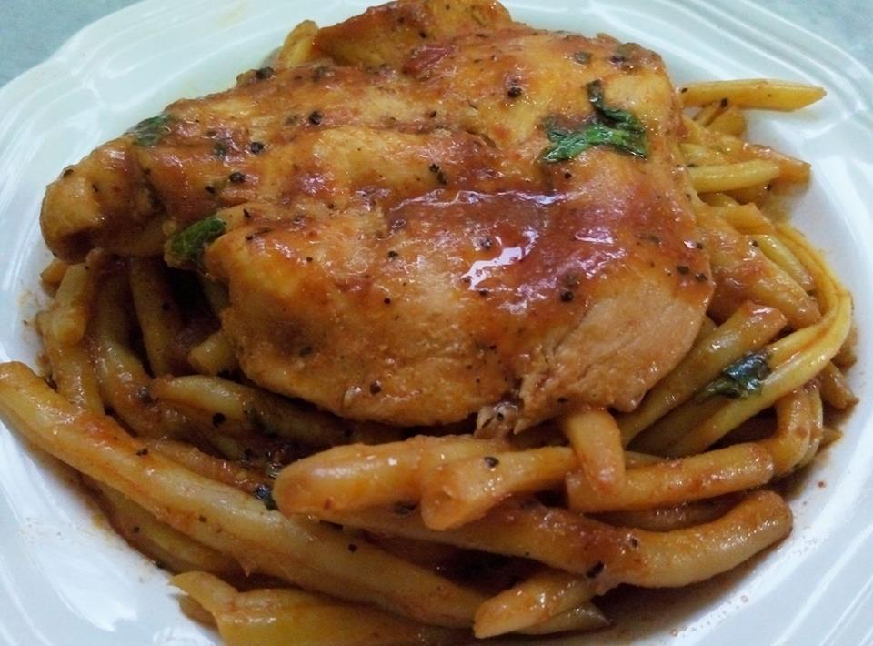 שעועית צהובה עם חזה עוף
