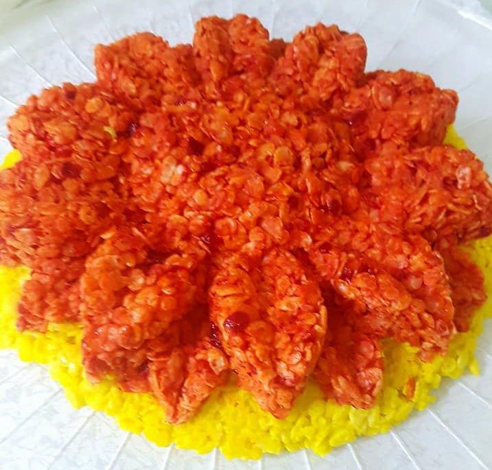 עוגת פצפוצי אורז ב 2 צבעים
