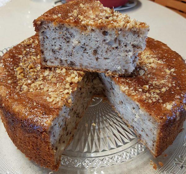 עוגת מייפל אגוזים/פיסטוקים