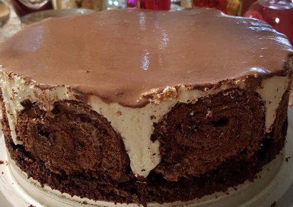 עוגת שוקולד גבינה קרה