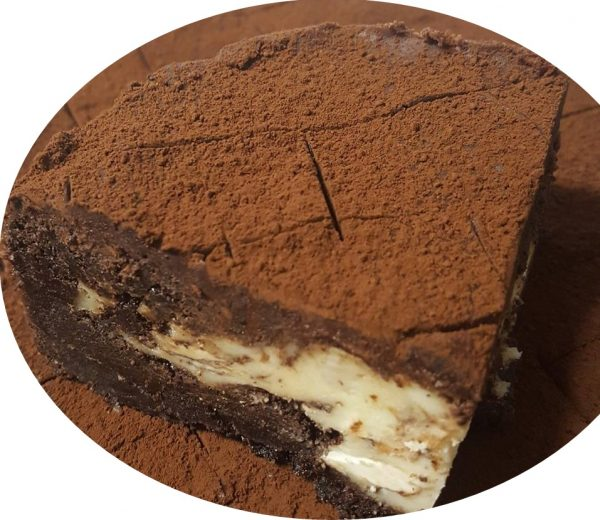 בראוניז פרג שוקולד ומסקרפונה