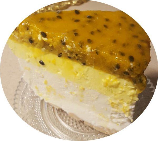 עוגת שכבות מוס גבינה , פסיפלורה ולימון_מתכון של נורית יונה