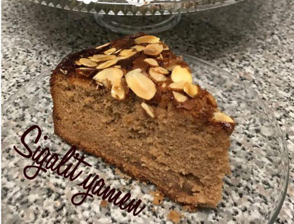עוגת דבש שקדים מייפל_מתכון של סיגלית ימין