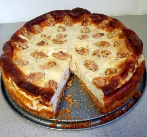 עוגת שמנת  ואגוזים