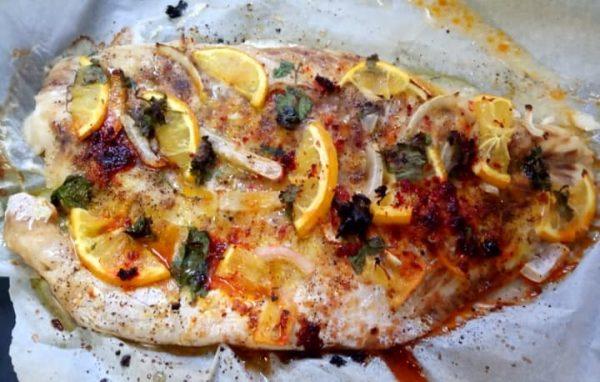 דג נסיכה בתנור