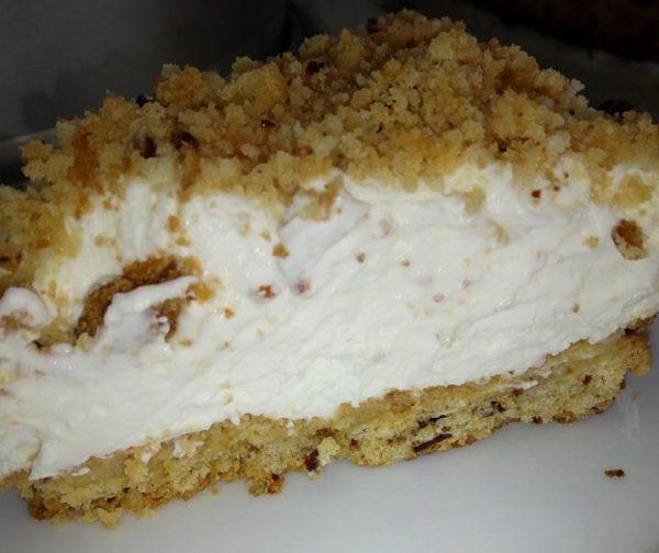 עוגת גבינה פירורים_מתכון של שרה יוסף