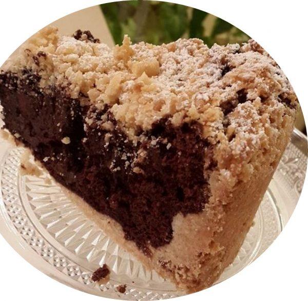 עוגת בצק פריך שוקולד ופקאן