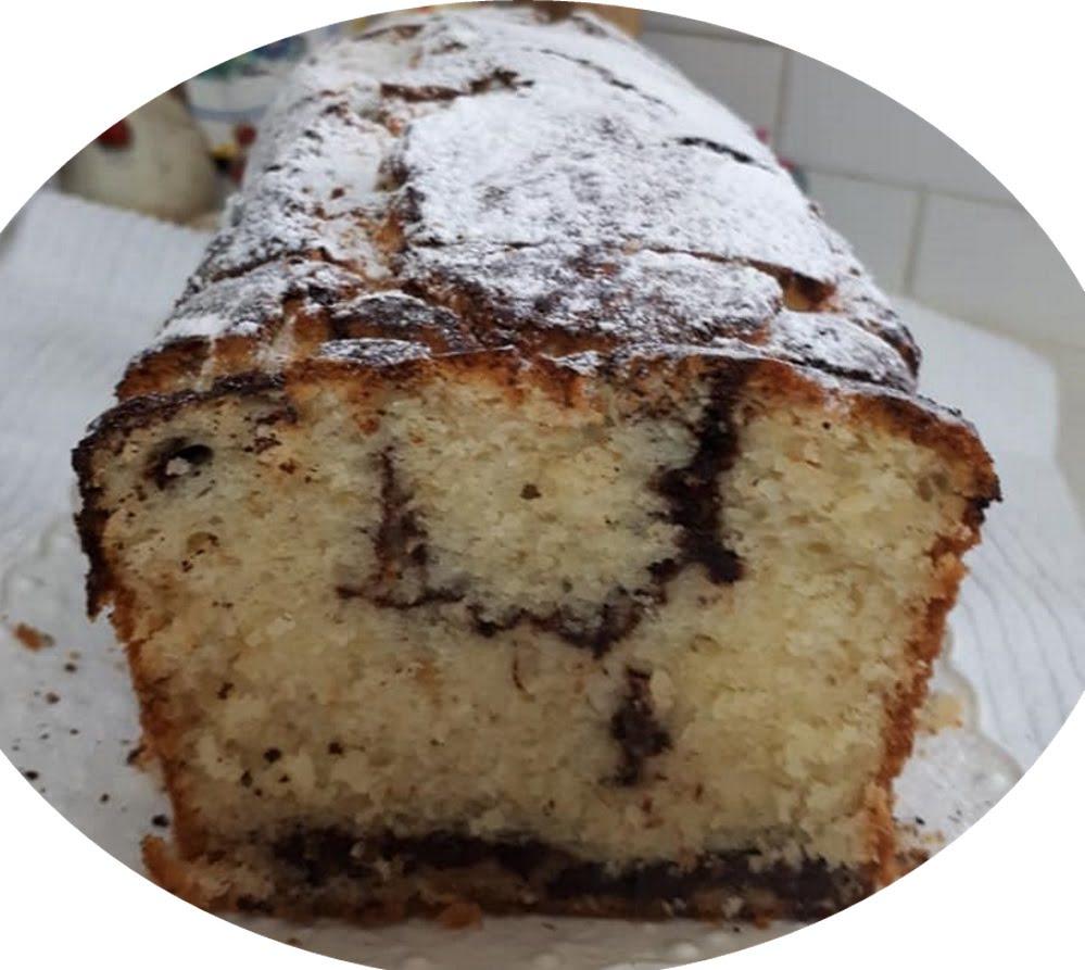 עוגת וניל עם נגיעות שוקולד