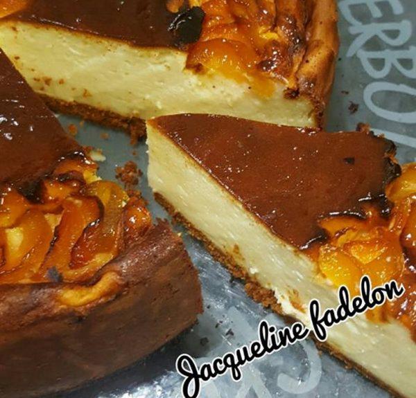 עוגת גבינה עם משמש …טעים אש