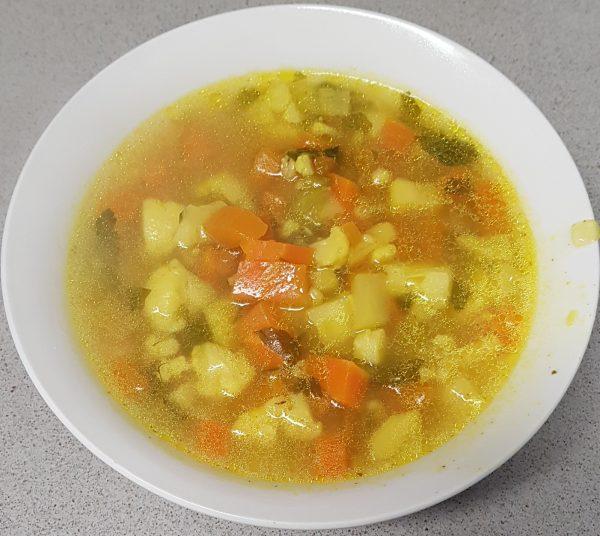 מרק ירקות וגריסי פנינה 2
