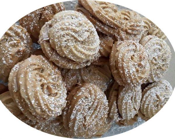עוגיות מזולפות עי שקית זילוף