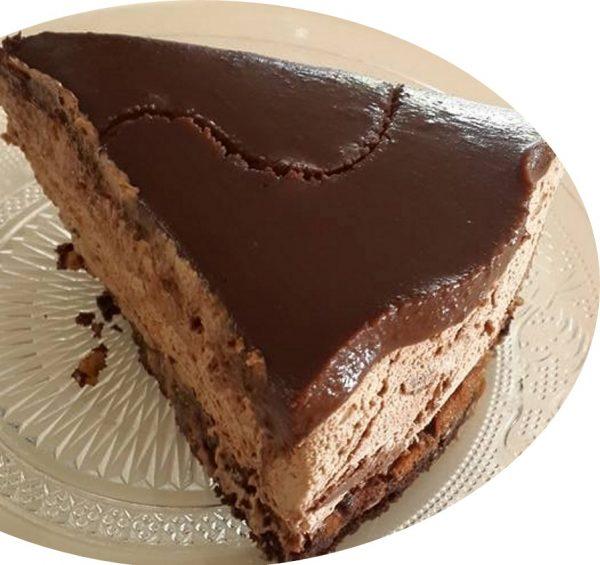 עוגת מוס נוטלה