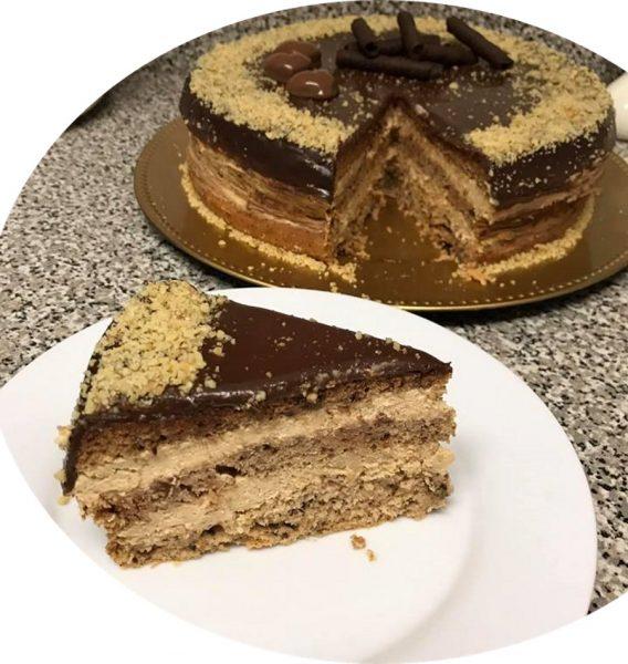 עוגת אגוזים קרם מוקה גנאש_מתכון של סיגלית ימין