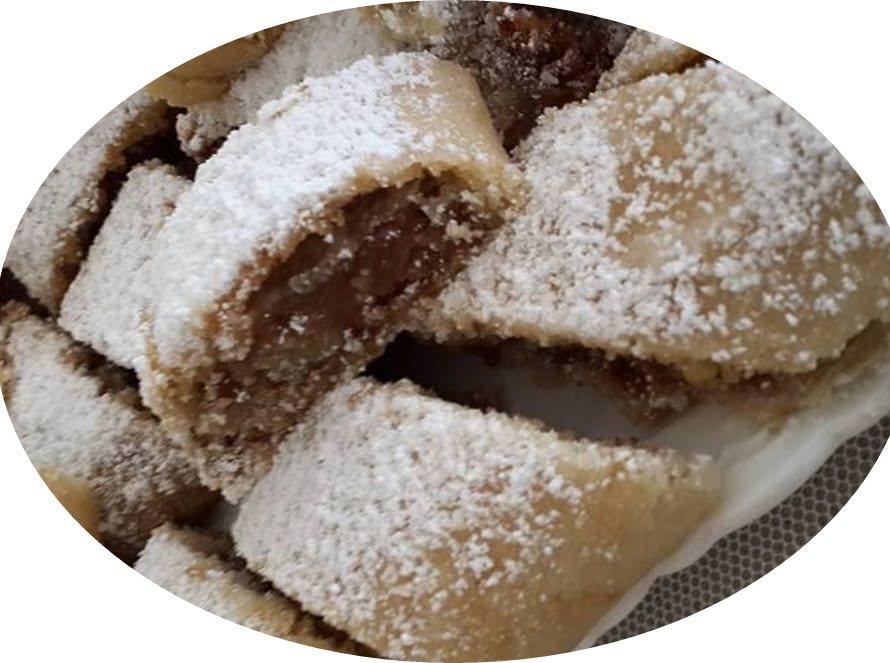 עוגיות מגולגלות ממולאות בטחינה, סילאן ואגוזים