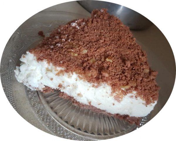 עוגת גבינה,פירורים ואגוזים_מתכון של אסתר-אתי כראדי
