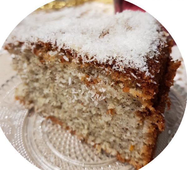 עוגת קוקוס , סולת ומה שבין