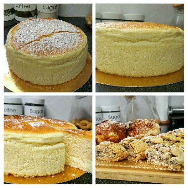 עוגת גבינה אפויה מעלפת בסיר ג'חנון