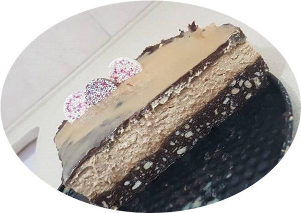 עוגת שוקולד קצפת ריבת חלב