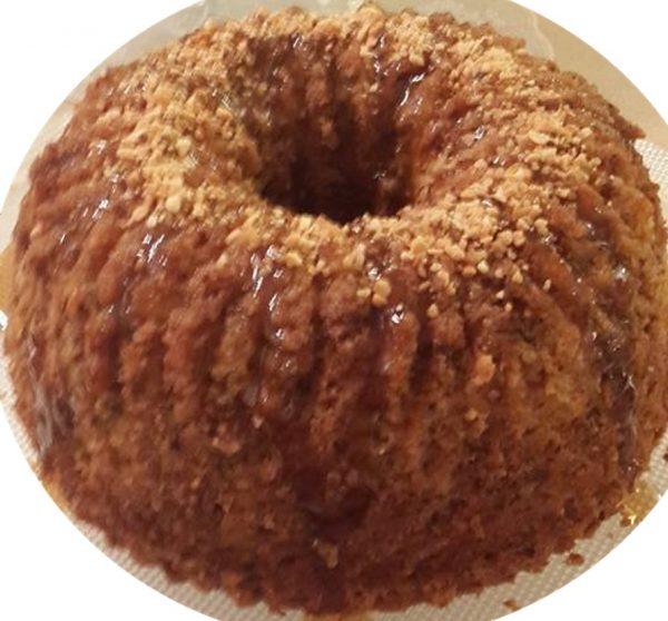 עוגת דלעת פיסטוקים ואגוזים מתובלת בהל וקינמון