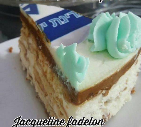 עוגת גבינה קרה עם פתי בר ותחתית עוגיות לוטוס