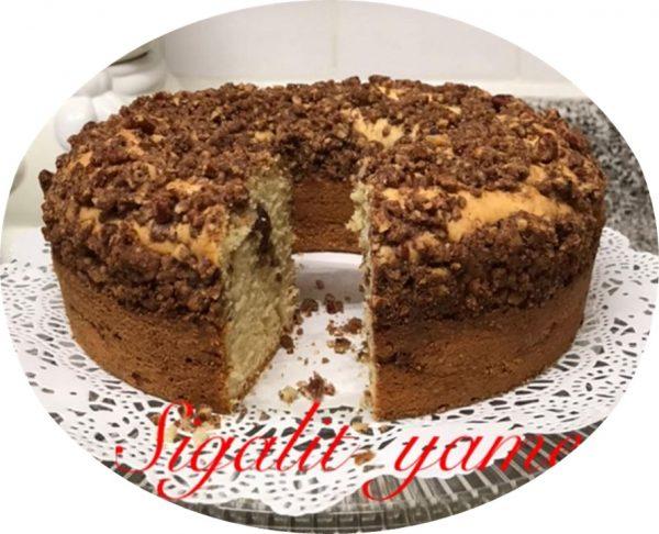 עוגה לקפה פקאנים חלבי מאוד טעימה_מתכון של סיגלית ימין