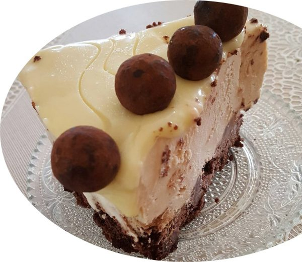 עוגת מוס שקולד רוזמרי, לבן ומריר