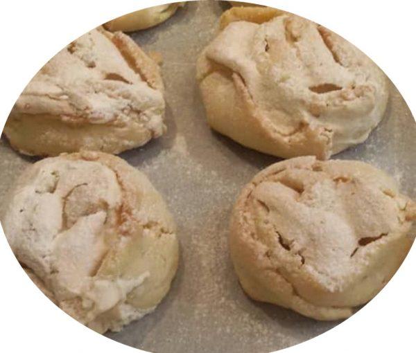 עוגיות שושני קצף עם אינסטנט פודינג שוקולד לבן
