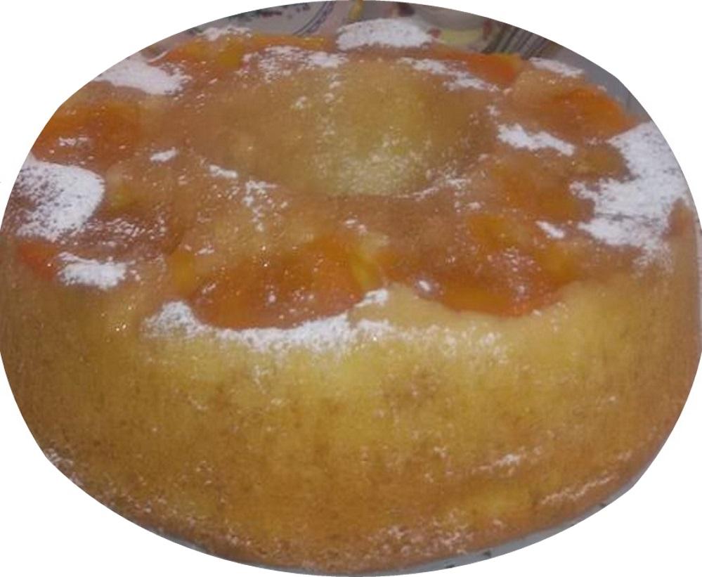 עוגת מישמשים הפוכה