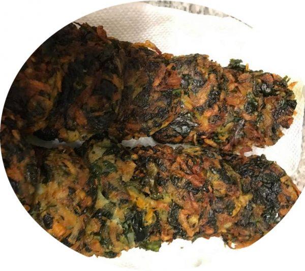 קציצות תרד תפוחי אדמה בטטה ( כשר לפסח )