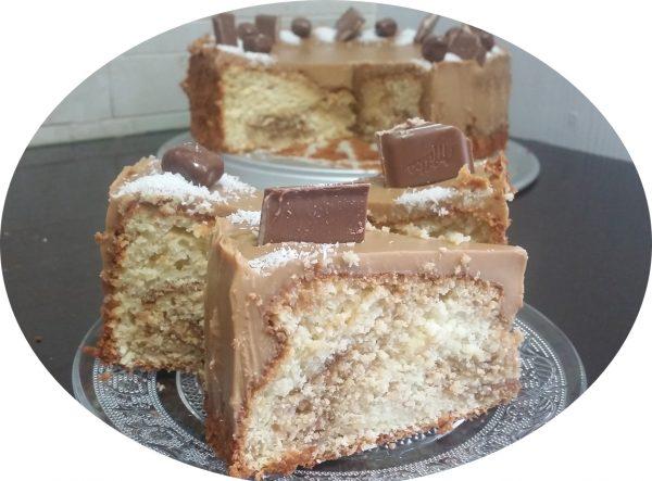 עוגת שיש חלבית, קוקוס ולוטוס