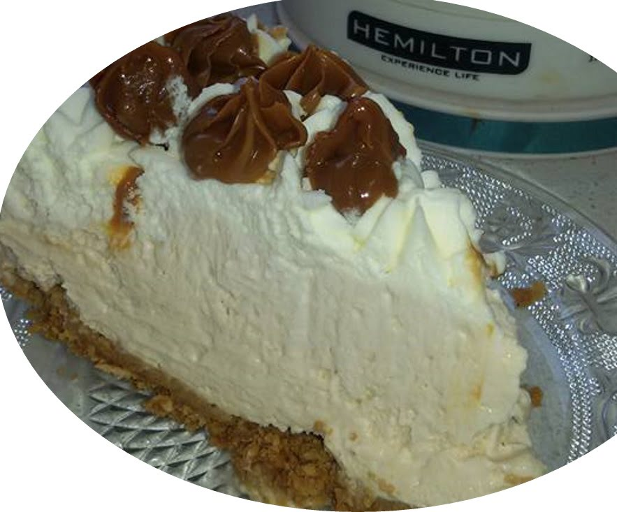 עוגת גבינה קרה עם ריבת חלב