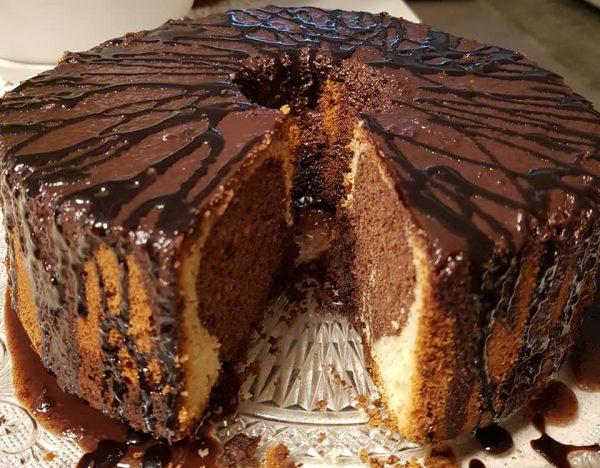 עוגת שייש שוקולד שקדים