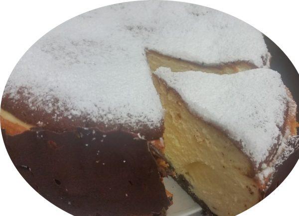 עוגת גבינה ושקד לבן