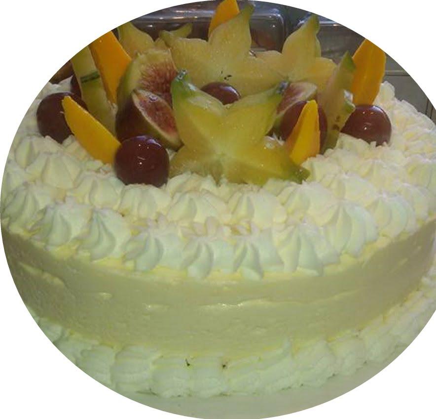 עוגת גבינה קרה עם מחית מנגו