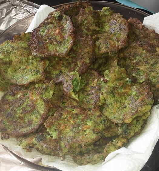 קציצות ירק על מצה עם מטבוחה