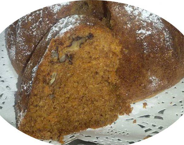 עוגת גזר עם אגוזי מלך ופקאן,קינמון,ציפורן ואגוז מוסקט