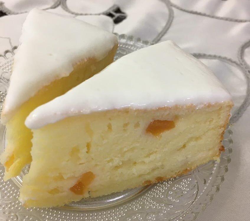 עוגת גבינה בחושה וקלה עם נגיעות מישמש