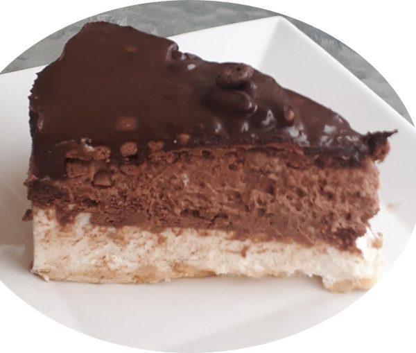 עוגת ביסקויטים בשתי שכבות